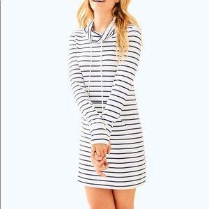 Lilly Pulitzer cowl neck sweatshirt dress size S